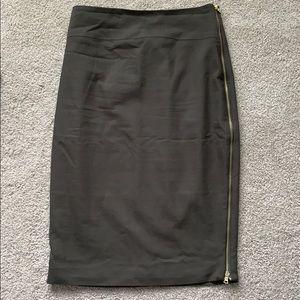 Express Olive Green pencil skirt